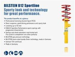 Bilstein Shocks - Bilstein Shocks 46-180308 B12 Series SportLine Lowering Kit
