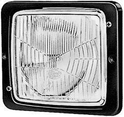 Hella - Hella 004109021 138x124mm Flush Mount Headlamp