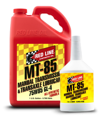 Red Line Synthetic Oil - MT-85 75W85 GL-4 - 12/1quart