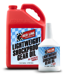 Red Line Synthetic Oil - LightWeight ShockProof Gear Oil - 12/1quart