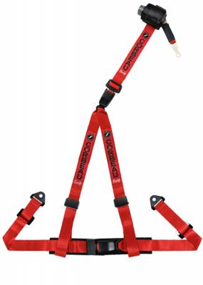 Corbeau - Red 3-Point Retractable Bolt-In