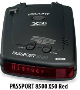 Escort Radar Detectors - Passport 8500 X50 Red